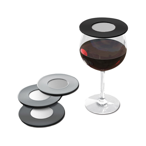 Drink Tops Ventilated Wine Glass Cover Set of 4