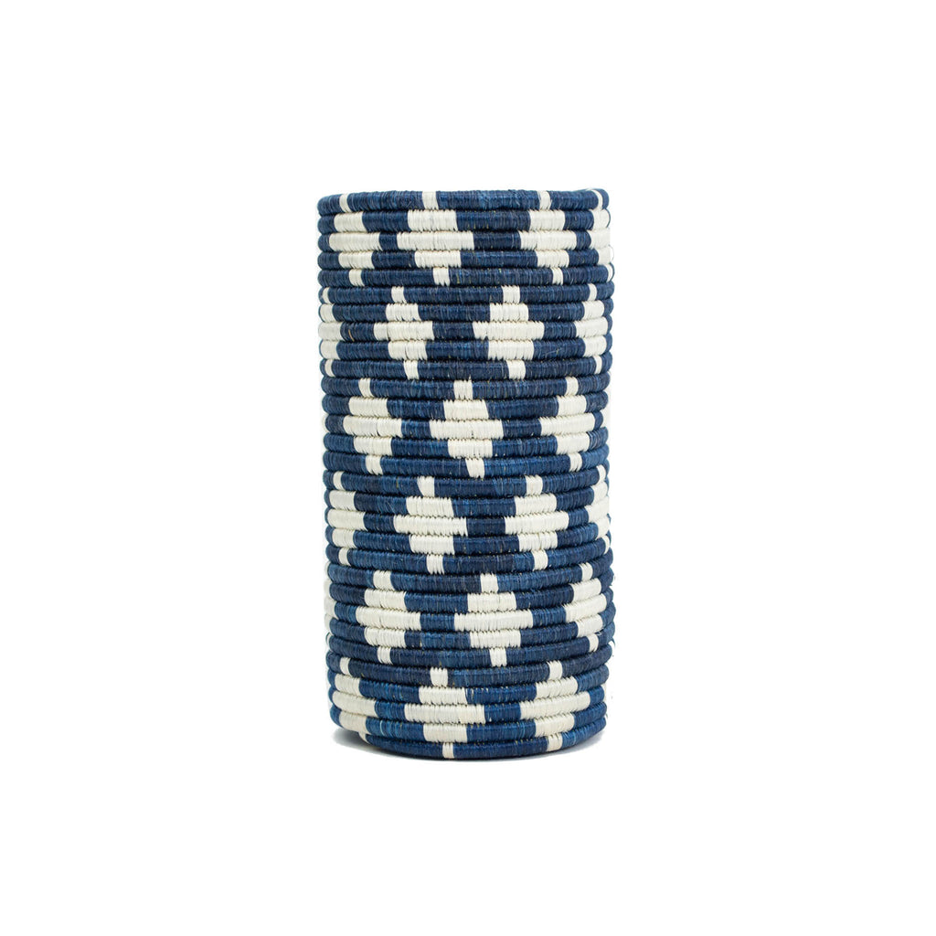 Handwoven Cylindrical Vases - Blue Night Almasi