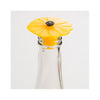 Silicone Poppy Bottle Stopper - Yellow Bumblebee