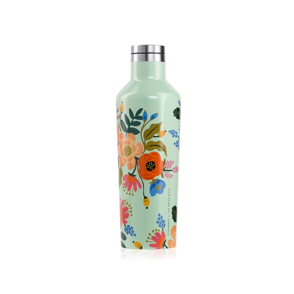 Corkcicle Rifle Paper Canteen - 16 oz - Mint Lively Floral