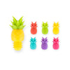 Glass Markers & Wine Stopper Set - Pineapples