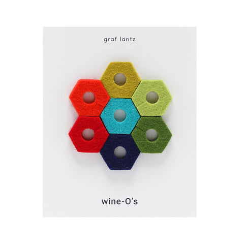 Wine O's Stem Marker Set - Hexagon Mix Set of 7