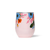 Corkcicle Stemless - Rifle Paper - Lively Floral - Blush - Back