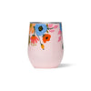 Corkcicle Stemless - Rifle Paper - Lively Floral - Blush - Front