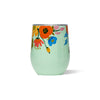 Corkcicle Stemless - Rifle Paper - Lively Floral - Mint - Front