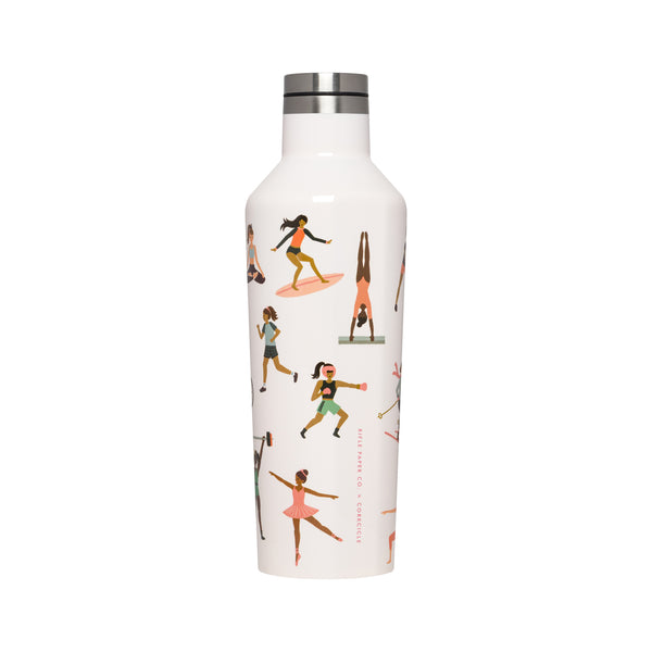 Corkcicle Rifle Paper Canteen - 16 oz - Sports Girls