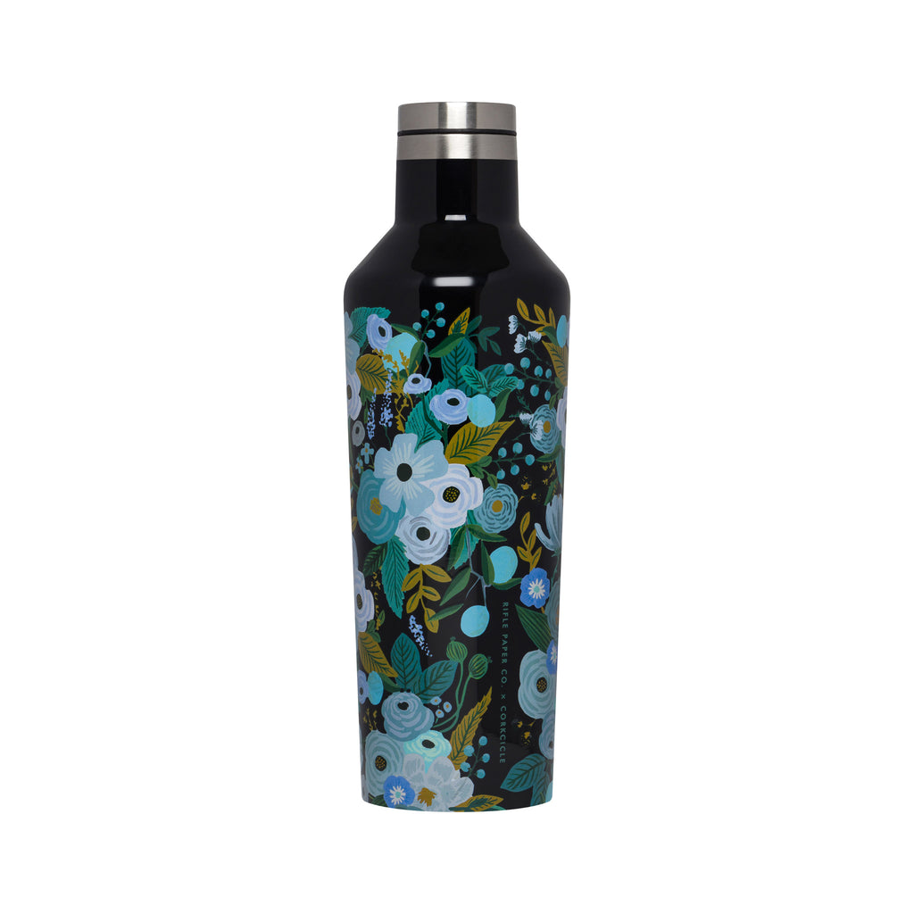 Corkcicle Rifle Paper Canteen - 16 oz - Garden Party Blue