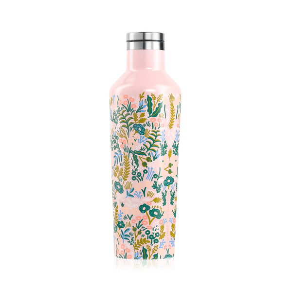 Corkcicle Rifle Paper Canteen - 16 oz - Pink Tapestry