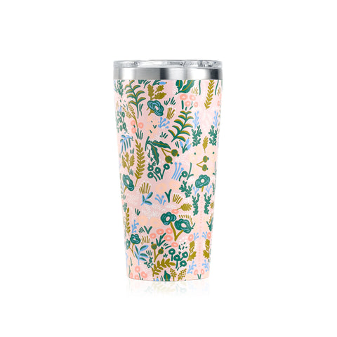Corkcicle Rifle Paper Tumbler - 16 oz - Pink Tapestry