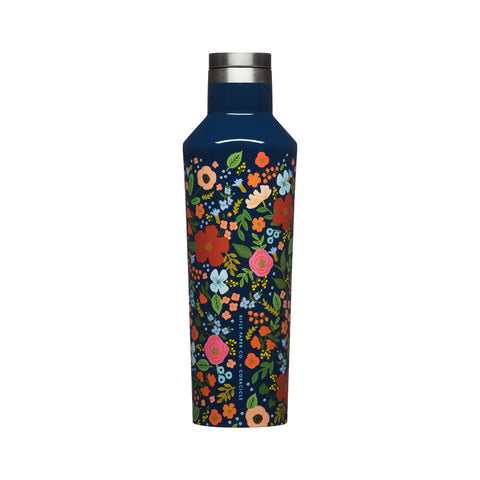 Corkcicle Rifle Paper Canteen - 16 oz - Wild Rose