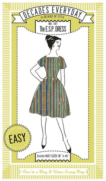 Striped E.S.P. dress