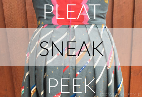 Pleating  Tutorial Sneak Peek