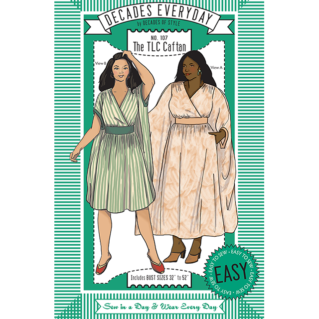 Decades Everyday TLC Caftan Sewing Pattern – Decades of Style ...