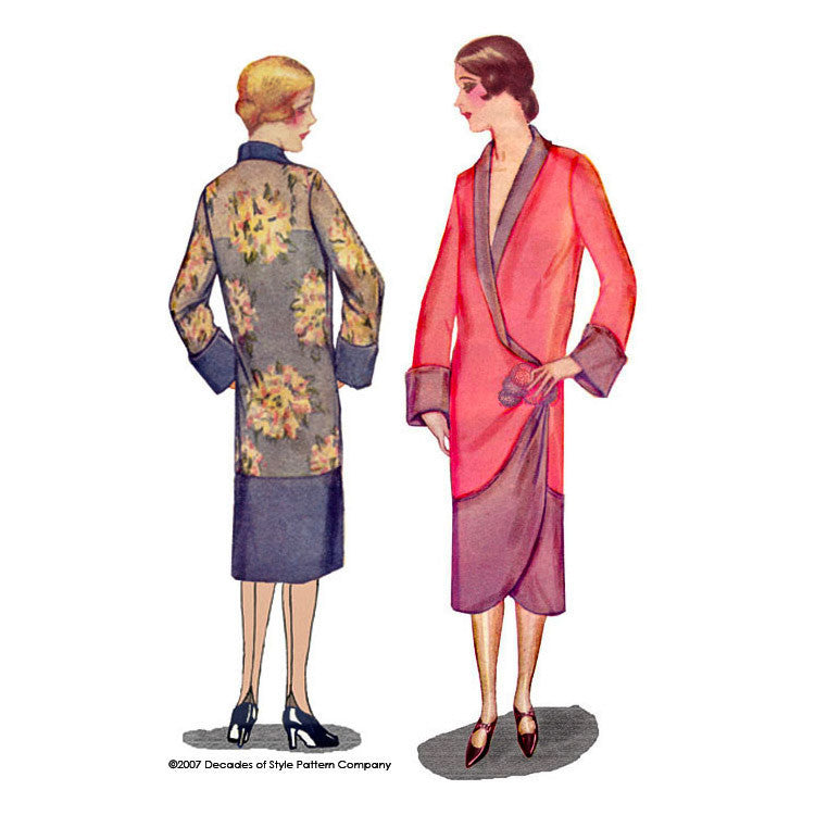 illustration for 1920s Tulip Kimono from Decades of Style
