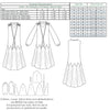 technical info for 925 sewing pattern for dress from Decades of Style Pattern Company