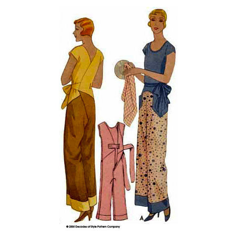 #3001  1930s Kitchenette Pajamas
