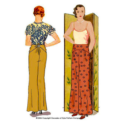 #3003    1930s Salon Trousers