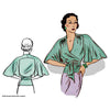 illustration for Vintage pattern for 1930s Blouse with butterfly sleeve from Decades of Style