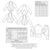 technical info for Vintage pattern for 1930s Unlined jacket with raglan sleeves from Decades of Style Pattern Company