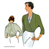 illustration for Vintage pattern for 1930s Unlined jacket with raglan sleeves from Decades of Style Pattern Company