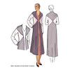 illustration for Vintage pattern for 1930s Duster length unlined coat from Decades of Style