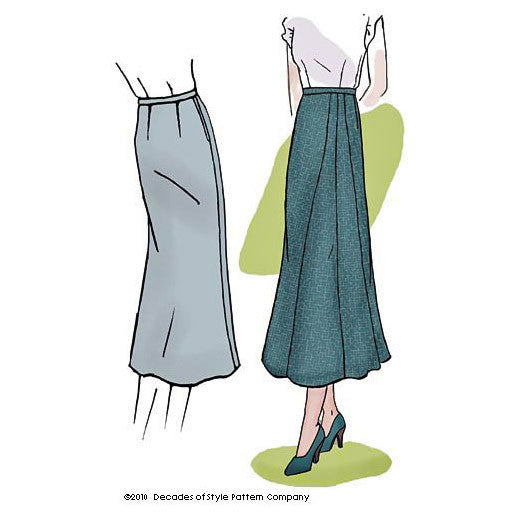 illustration for Vintage pattern for 1930s Skirt from Decades of Style #3011