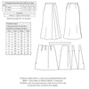 technical info for Vintage pattern for 1930s Skirt from Decades of Style #3011