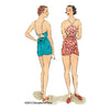 illustration for 1930s Vintage sewing pattern 1930s Beach Romper from Decades of Style