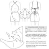 technical info for 1930s Vintage sewing pattern 1930s Beach Romper from Decades of Style