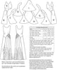 technical info for Vintage sewing pattern for 1930s evening gown from Decades of Style