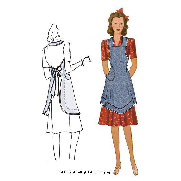 illustration for 1940s Apron from Val's Kitchen