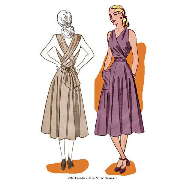 illustration for 1940s Siren Sundres pattern