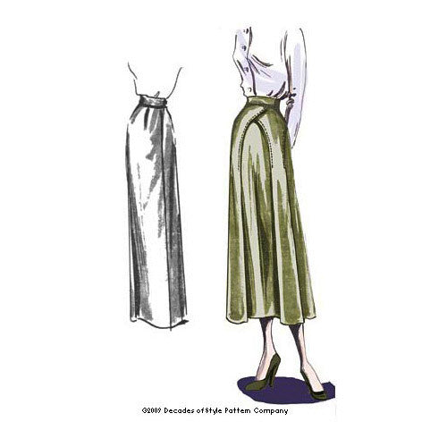 illustration for 1940s Arches Skirt pattern