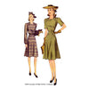 illustration for 1940s New England Dress pattern