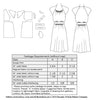 technical info for 1940s sewing pattern for a short sleeve dress from Decades of Style #4013 1940s Dorothy Lara Dress