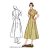 illustration for 1950s Diamond Dress sewing pattern from Decades of Style