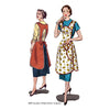 illustration for 1950s apron pattern from Decades of Style