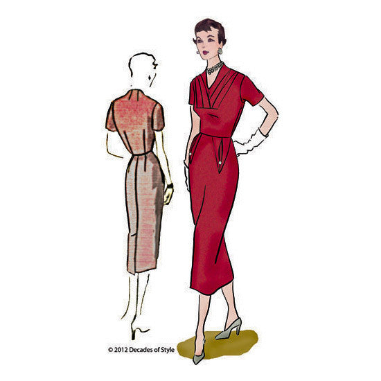 illustration for 1950s Object d'Art Dress pattern from Decades of Style