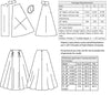 technical info for 1950s PB&J Skirt pattern from Decades of Style