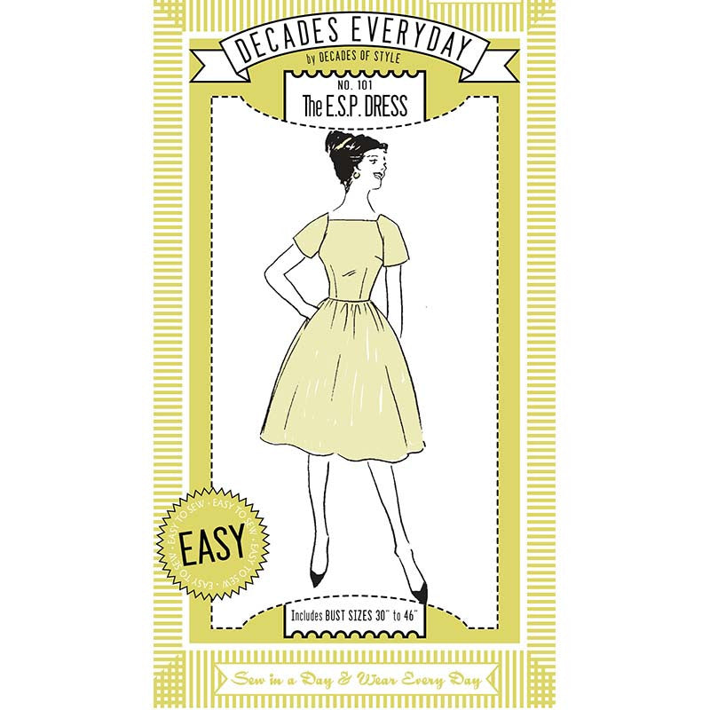 No 101 The Esp Dress Decades Of Style Pattern Company