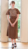photo front view Vintage pattern for 1930s Dress with raglan sleeves from Decades of Style