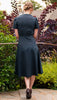 photo back view 1940s New England Dress pattern