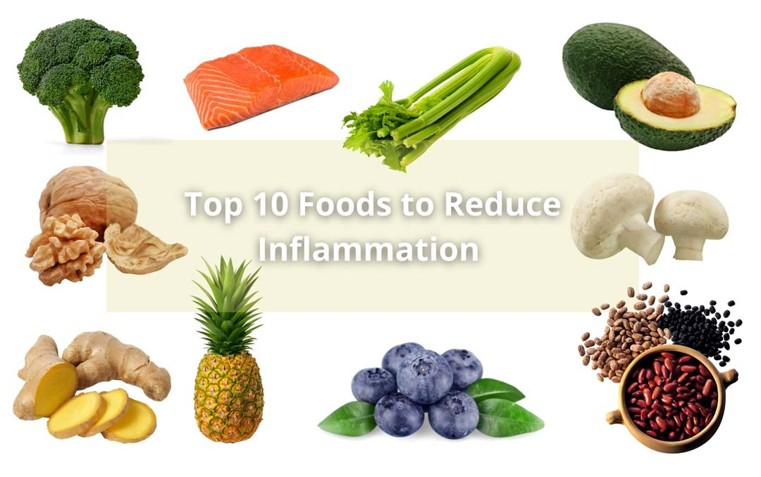 Top 10 foods reduce inflammation