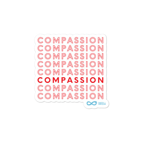 Compassion - Red English Sticker