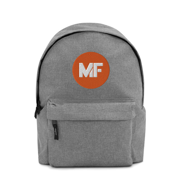 Mental Floss Embroidered Backpack