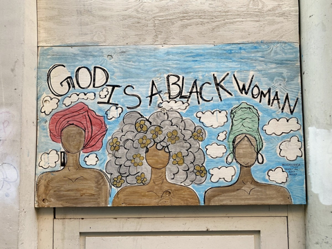 God Is A Black Woman Mural