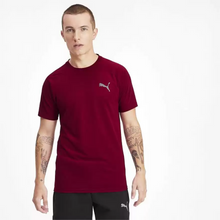 Load image into Gallery viewer, Men Burgundy Solid Round Neck Training T-shirt