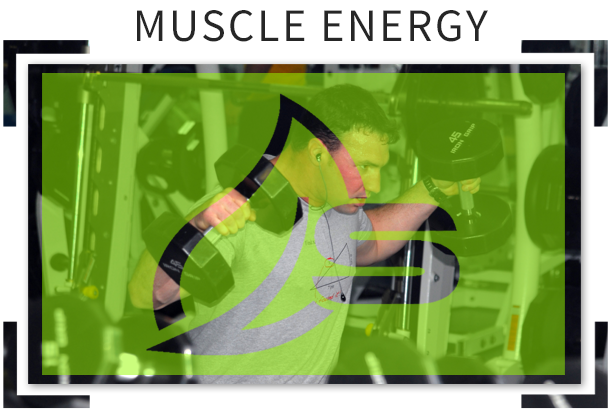 muscle energy working out with dumbells