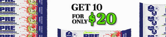 pre workout with stevia by size slim get 10 grab-n-go;'s for only $10