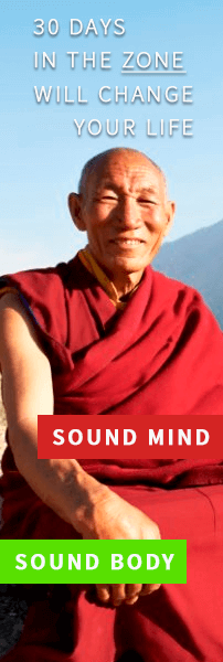 monk with sound mind and sound body. 30 days in the zone will change your life